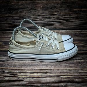 Converse Cream Gray Slip On Shoreline sz 7.5